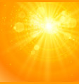 shiny sun and space for your text vector image vector image