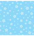 Snowflakes on blue sky - Christmas seamless vector image