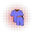 Sport uniform icon comics style vector image vector image