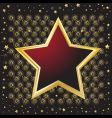 star shaped vector image vector image