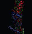 teddy bears as spies text background word cloud vector image vector image