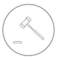the judicial hammer the black color icon in vector image