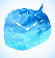 The watch dial on watercolor spot vector image vector image