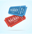 ticket fly blank admit set retro old style vector image vector image