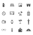 Tourist Icons Set vector image vector image