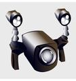 Underwater lights and camera closeup sport item vector image vector image