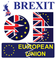 United Kingdom exit from the European Union signs vector image vector image