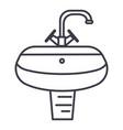 washbasinwashstand line icon sign vector image vector image