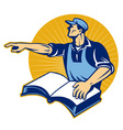 worker tradesman vector image vector image
