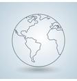 world planet design vector image vector image