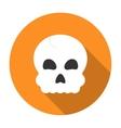 Halloween skull icon flat vector image