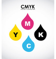 cmyk design vector image