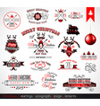 2015 Christmas decoration set of calligraphic vector image vector image