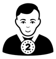 2nd Prizer Sportsman Flat Icon vector image vector image