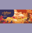 autumn banner design template thanksgiving vector image