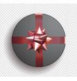 black gift circle box with ribbon gift box bow vector image