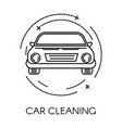 car cleaning service company clean transport vector image vector image
