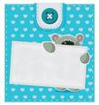 card with a teddy bear vector image vector image