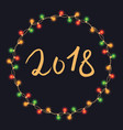 christmas new year lights vector image