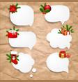 christmas set speech bubble vector image vector image
