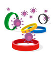 coronavirus concept - competition cancellation vector image vector image