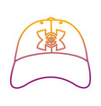 degraded line casual cap male style accessory vector image vector image