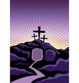 Easter Calvary Scene vector image vector image