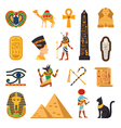 Egypt Touristic Icons Set vector image