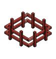 Farm fence isometric icon