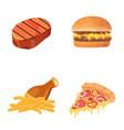 fat food icon cartoon vector image vector image