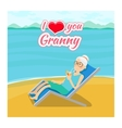 grandparents day background I love you vector image