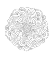 Graphic Mandala with waves and curles Element of vector image vector image