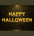 halloween greeting card vector image vector image