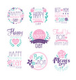 happy mothers day hand drawn label vector image