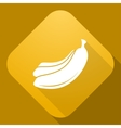 icon of Banana with a long shadow vector image vector image