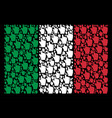italy flag pattern of index finger icons vector image vector image