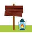 lamp of camping design vector image