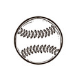 leather baseball ball isolated coloring book vector image vector image