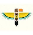 Linear logo thunderbird vector image