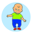 Little lovely baby boy standing walking learning vector image vector image