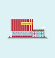 low-rise supermarket building front view colorful vector image vector image