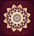 luxury gold and red mandala pattern design vector image vector image