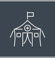 medical tent related thin line icon vector image
