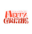 merry christmas 2019 typographic emblem vector image