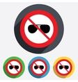 No glasses Aviator sunglasses sign icon vector image vector image