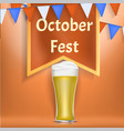 octoberfest concept banner realistic style vector image