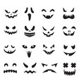 pumpkin faces halloween jack o lantern face vector image