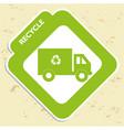 recycle symbol environmental label vector image vector image