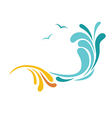 sand and sea icon vector image