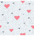 seamless heart pattern on white vector image vector image